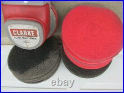 CLARKE FLOOR 15 BUFFER MAINTAINER FM 1500HD 115VOLT 60HZ Plus 6-16 & 4-17 pads