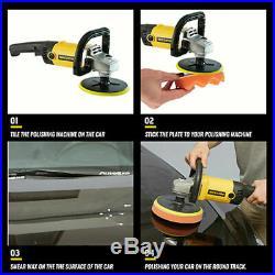 Car Polisher Sander Buffer Floor Polishing Machine Waxing Tool with Buffing Pad US