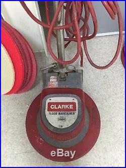clarke floor maintainer 2000 buffer 20 with driver pad floor