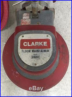 Clarke Floor Maintainer 2000 Buffer 20 with driver pad