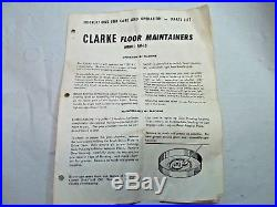 Clarke Lot of Floor Scrubber / Buffer / Polisher Maintainers, Pads
