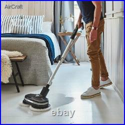 Cordless Floor Cleaner Ergonomic Vinyl Floor Tile Polisher + Microfibre Pads Set