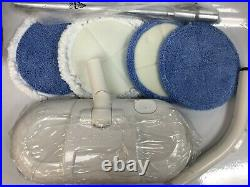 Cordless Hard Floor/Tile Cleaner and Polisher White Cordless Twin Rotating Pads