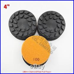 DIATOOL 9 pcs 4 Flower diamond floor polishing pads#100 renew polisher Disc