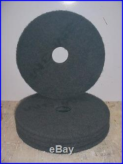 FLOOR BUFFING/BUFFER STRIPPER PADS, 17 BLACK 7200, 175-600 RPM