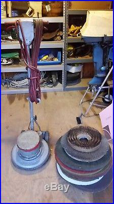 Floor Machine Buffer Waxer 17 Inch Several Brushes And