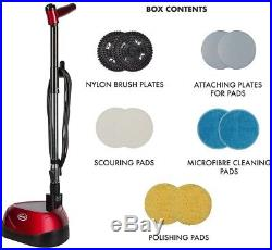 Floor Scrubber Polisher Cleaner 23 Ft. Power Cord Reusable Interchangeable Pads