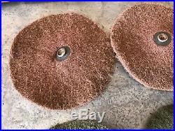 Genuine Vtg Electrolux B8 Floor Polisher 6 SNAP Scrubbing Pads Carpet Cleaner