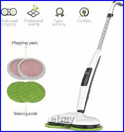 Gladwell Cordless Electric Mop 3 in 1 Spinner Scrubber Waxer Quiet Cleaer Buffer