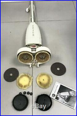 HOOVER 5464 FLOOR SHAMPOOER POLISHER SCRUBBER WOOD WAX With Brushes & Pads