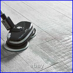 Hard Floor Cleaner and Polisher Black Cordless AirCraft PowerGlide + Extra Pads