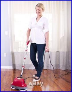 Hardwood Carpet Tile Cleaner 2 Microfiber Pads Electric Floor Scrubber Buffer