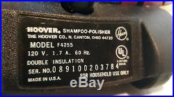 Hoover Model F4255 Floor Shampoo Polisher withSuper Tank, Manual New Brushes Pads