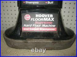 Hoover Supreme Hard Floor Carpet Scrubber Buffer Polisher Shampooer Brushes Pads