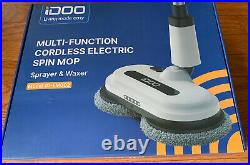 Idoo Cordless Electric Spin Mop Model ID-EM002 Floor Cleaner Polisher with Mop Pad