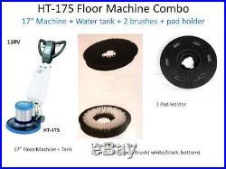 Industrial Floor Machine Polisher (1 Tank + 2 Brushes + 1 Pad Holder) HT175