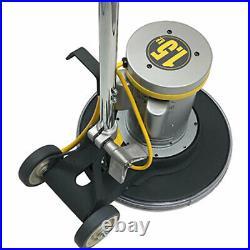 Koblenz Industrial 1.5 HP Steel Floor Cleaner Machine with 17 Inch Pad, Yellow