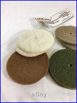 Koblenz Regina Floor Scrubber Polisher Lot Felt Buffer Wool Pads Scrub Brushes