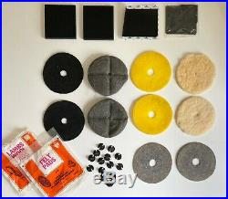 Lot 12 Pads + 12 Adaptors for Kenmore Hoover ALL Twin Brush Floor Polishers