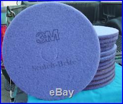 Lot of 13 Purple 3M Scotch-Brite Floor Buffer Pads Model FN-5100-8207-9 NEW