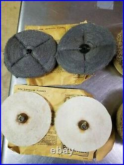 Lot of 8 Singer P21 Floor Polisher Brush Pads, Scrubbing Lambs Steel Wool Buffer