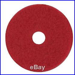 Low-Speed Buffer Floor Pads 5100, 18 Diameter, Red, 5/carton-MMM08393