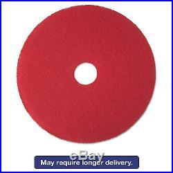 Low-Speed Buffer Floor Pads 5100, 19 Diameter, Red, 5/carton-MMM08394