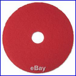Low-speed Buffer Floor Pads 5100, 24 Diameter, Red, 5/carton