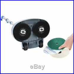 MinElectric Polisher Floor Scrubber With Floor Pads 11 Cleaning Path Tile Wood