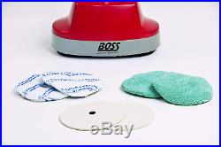Mini Floor Scrubber Polisher 10 Cleaning Path Washable Microfiber Pads RED Color