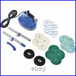 Mini Floor Scrubber With Floor Pads, 11 Cleaning Path