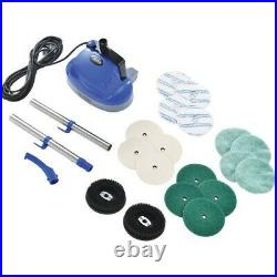 Mini Floor Scrubber With Floor Pads, 11 Cleaning Path NEW