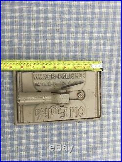 NICE Vintage 1920's OLD ENGLISH WAXER/POLISHER Floor Wax Applicator Pad Holder