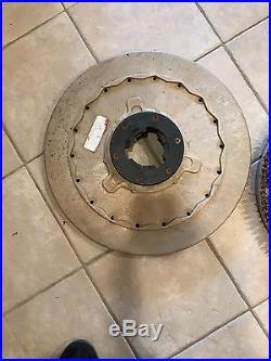Powr Flight 20 Rotary Floor Buffer Machine 20 Electric Driver Pad Medium Grit