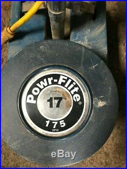 Powr Flite 17 175 RPM HD Floor Buffer Scrubber with scrubbing pads Model P171SD