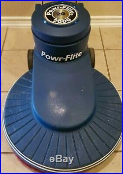 Powr-Flite 20 2000 RPM High Speed Floor Buffer With Pad Excellent Working Cond
