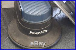 Powr Flite Floor Buffer with attachments and pads
