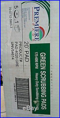 Premiere Green 20 Heavy Duty Floor Stripping Buffer Pad 20 Inch Box of 5 Pads