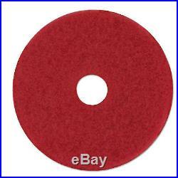 Red Buffer Floor Pads 5100, Low-Speed, 16, 5/carton