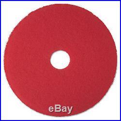 Red Buffer Floor Pads 5100, Low-Speed, 24, 5/carton