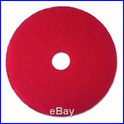 Red buffer pad 5100, 19 floor buffer, machine use (case of 5)