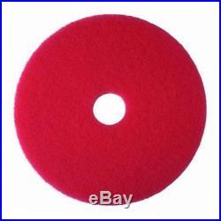 Red buffer pad 5100, 22 floor buffer, machine use (case of 5)