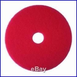 Red buffer pad 5100, 24 floor buffer, machine use (case of 5)