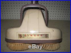 Singer Floor Polisher Buffer Scrubber Cleaner Shampooer Waxer Twin Brushes Pads