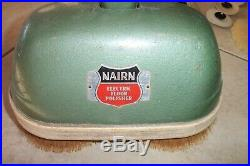 VTG CONGOLEUM NAIRN ELECTRICAL FLOOR POLISHER MODEL U + ATTACHMENT PADS Brushes