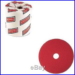 Value Kit 3m Buffer Floor Pad 5100 (MMM08394) and White 2-Ply Toilet Tissue, 4
