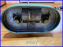 Vintage 1950's CHROME GE Floor Buffer Polisher General Electric with Pads Rare