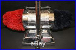 Vintage Dremel Floor Model Electric Shoe Shiner Shine Polisher Chrome GOOD PADS