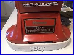 Vintage Hoover F4143 Floor Scrubber Shampoo Polisher Shampooer With Brushes & Pads