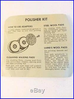Vintage Hoover Floor Polisher Shampooer Brush Pad Kit Lamb's Wool Steel Waxing